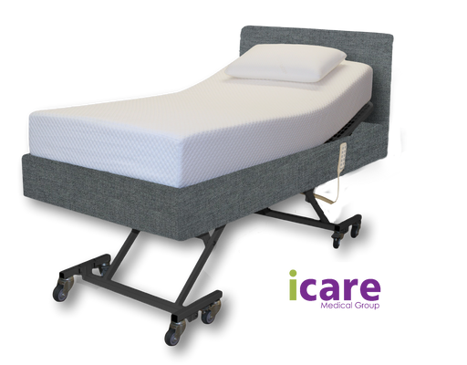 Bed King Single Smoke with Medium Mattress IC333 Package