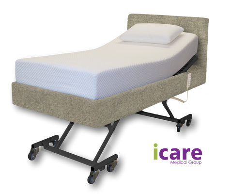 Bed  Long Single Smoke and Medium Mattress  IC333