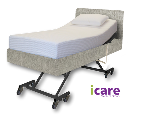 Bed King Single Silver and Medium Mattress IC333