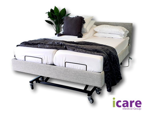 Bed Onyx Split Queen and Medium Mattress IC333