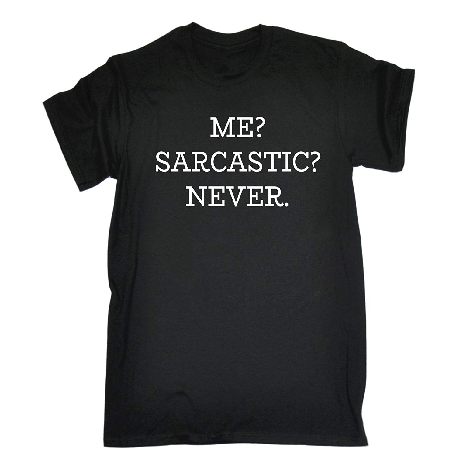 17d38faf7 123t Men's Me Sarcastic Never T-SHIRT Funny Christmas Casual Birthday Tee