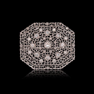 Vintage Buccellati Diamond & Gold Brooch