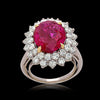 Vintage Cartier No HEAT Burma Ruby and Diamond Ring