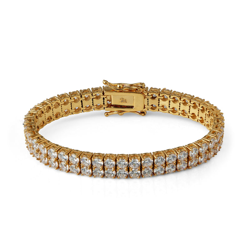Double Tennis Bracelet - Gold