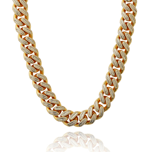 SA Miami Cuban Choker (18mm) - Gold