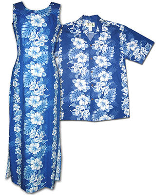Royal Hibiscus Shirts and Dresses