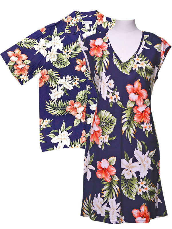 Kahala Hibiscus Hawaiian Shirts and Dresses
