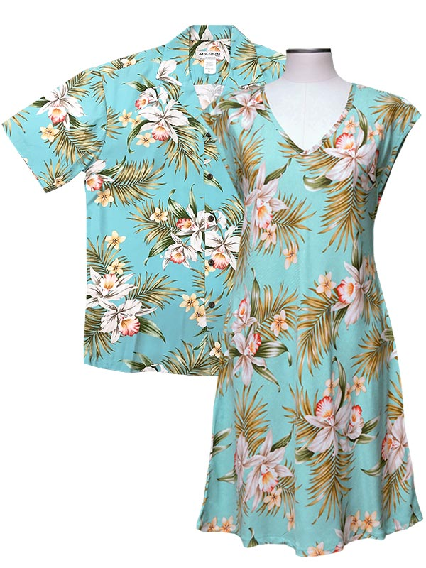 Pacific Orchid Shirts and Dresses