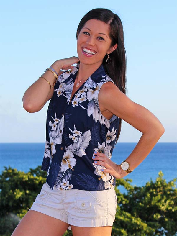 Women's Sleeveless Hawaiian Shirts