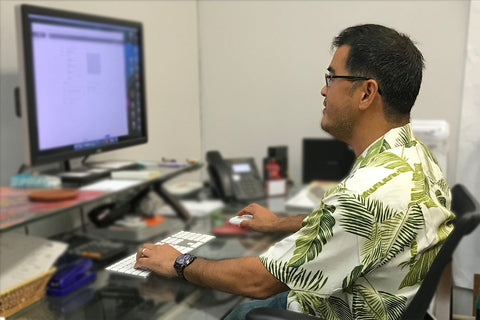 wearing an Aloha shirt to the office