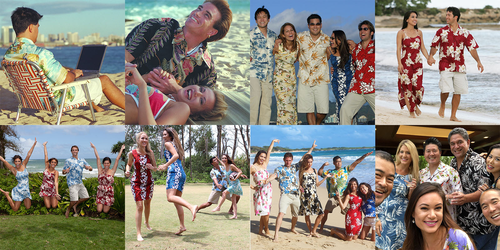 Fun times in Hawaiian shirts and dresses over the years