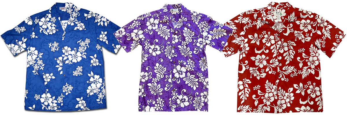 choosing the color for your group Hawaiian shirt