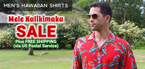Men's Hawaiian Shirts Mele Kalikimaka Sale