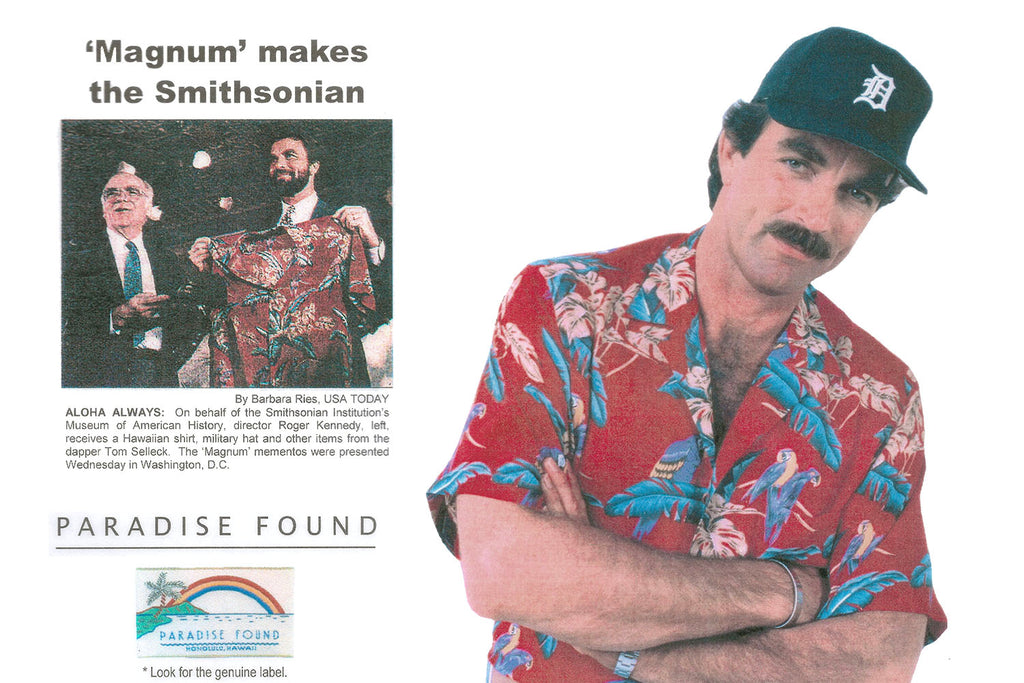 Magnum PI Hawaiian Shirt in the Smithsonian