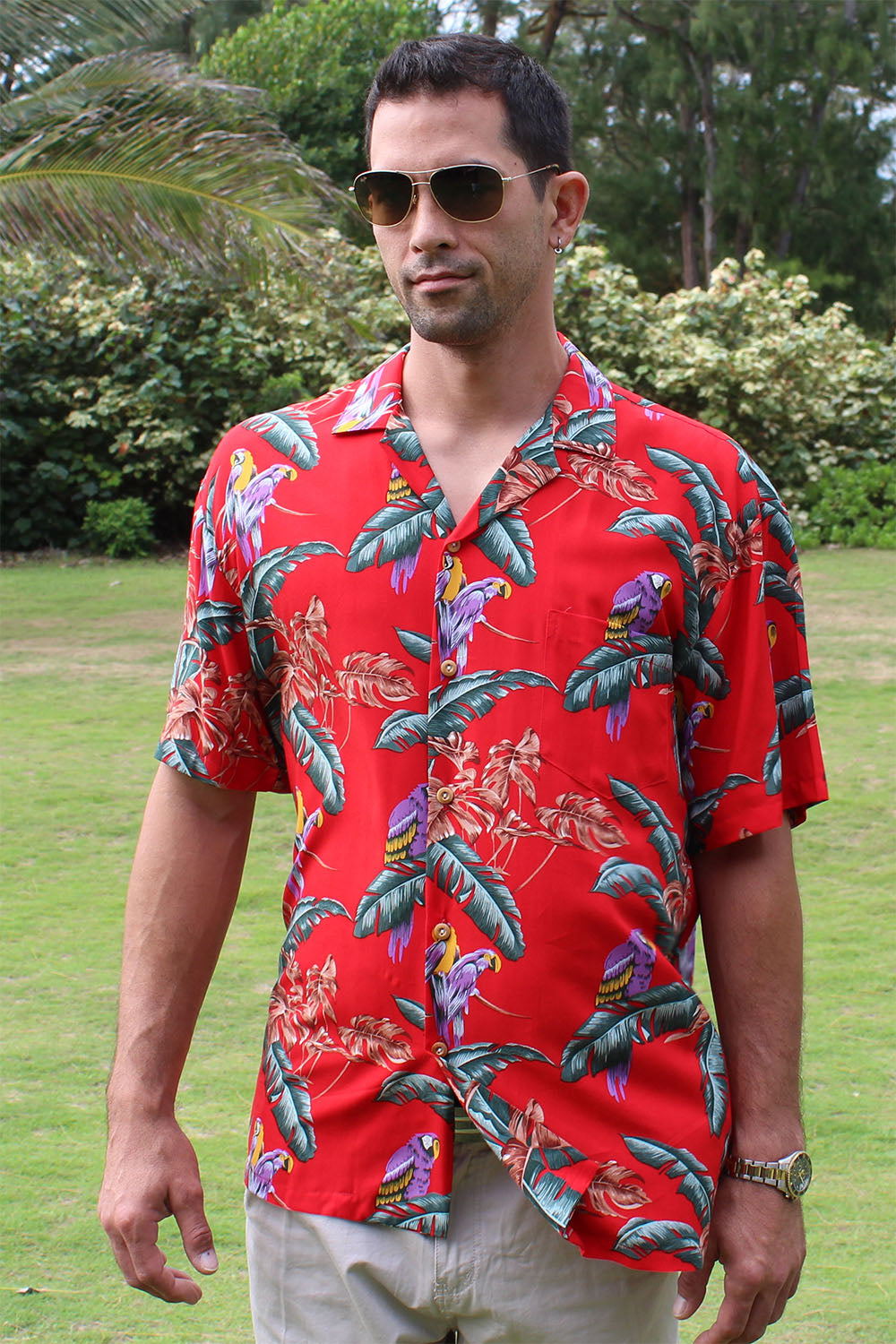 Magnum PI Hawaiian shirt made of 100% rayon