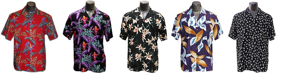 Hawaiian shirts that were worn on Magnum PI (1980s version)