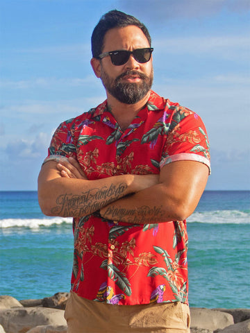 Magnum PI Red Hawaiian Shirt