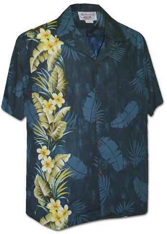 panel print Manoa Garden Hawaiian shirt