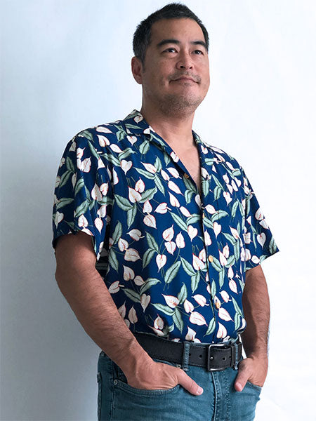Mini Anthurium Hawaiian shirt worn by Tom Selleck in Magnum PI