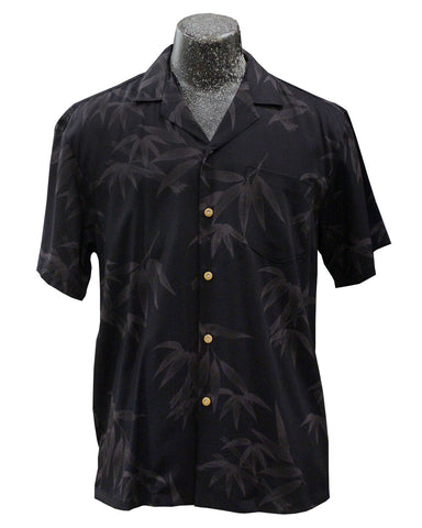 Bamboo Garden black Hawaiian shirt