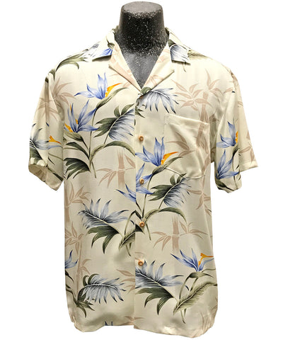 Bamboo Paradise cream Hawaiian shirt