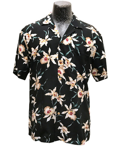 Magnum Orchid (aka Star Orchid) Hawaiian shirt worn on Magnum PI