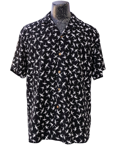 Midnight Bamboo Magnum PI Hawaiian shirt