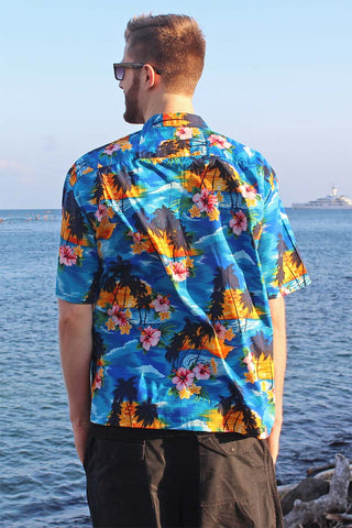 scenic print Hawaiian shirt