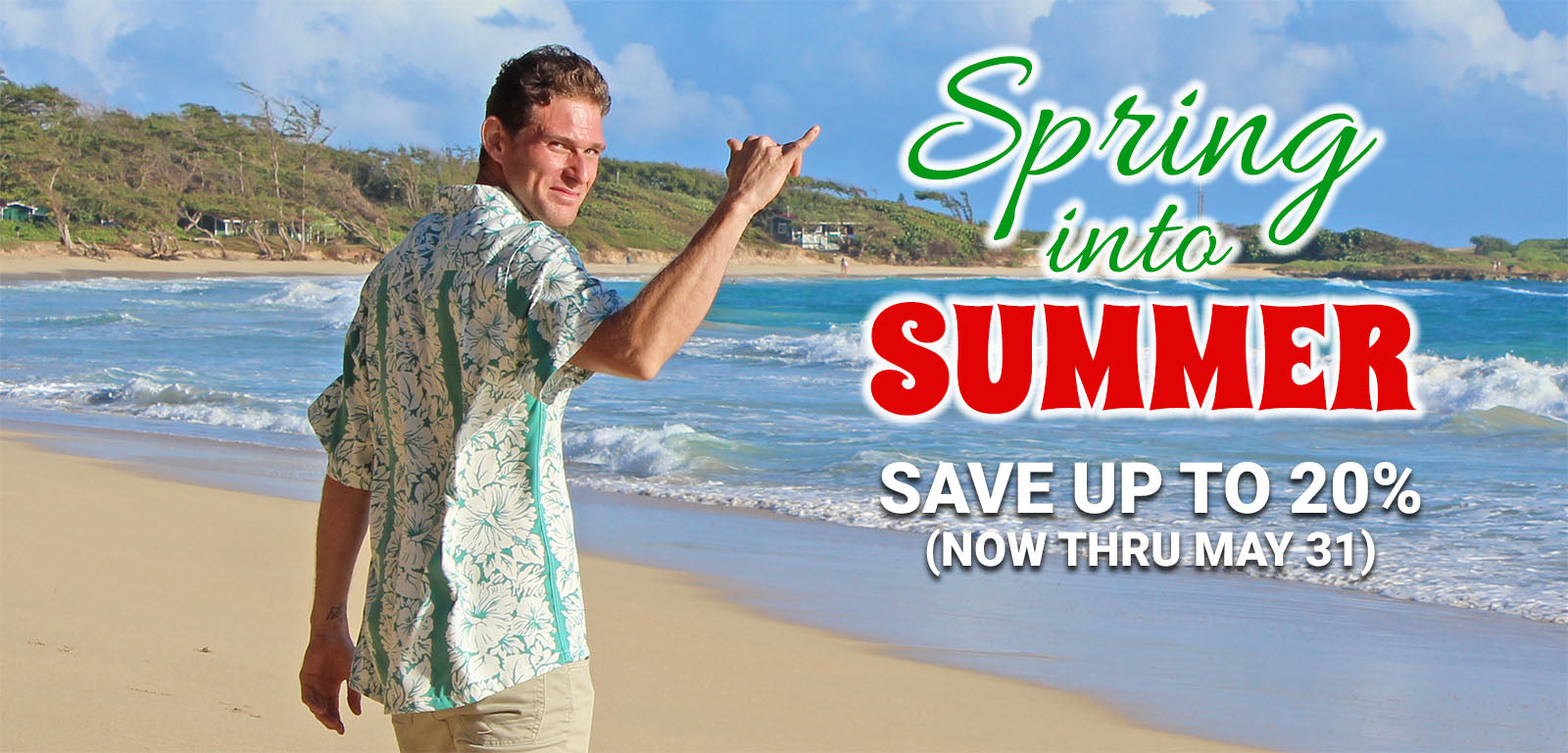 Hawaiian Shirts Spring into Summer Sale