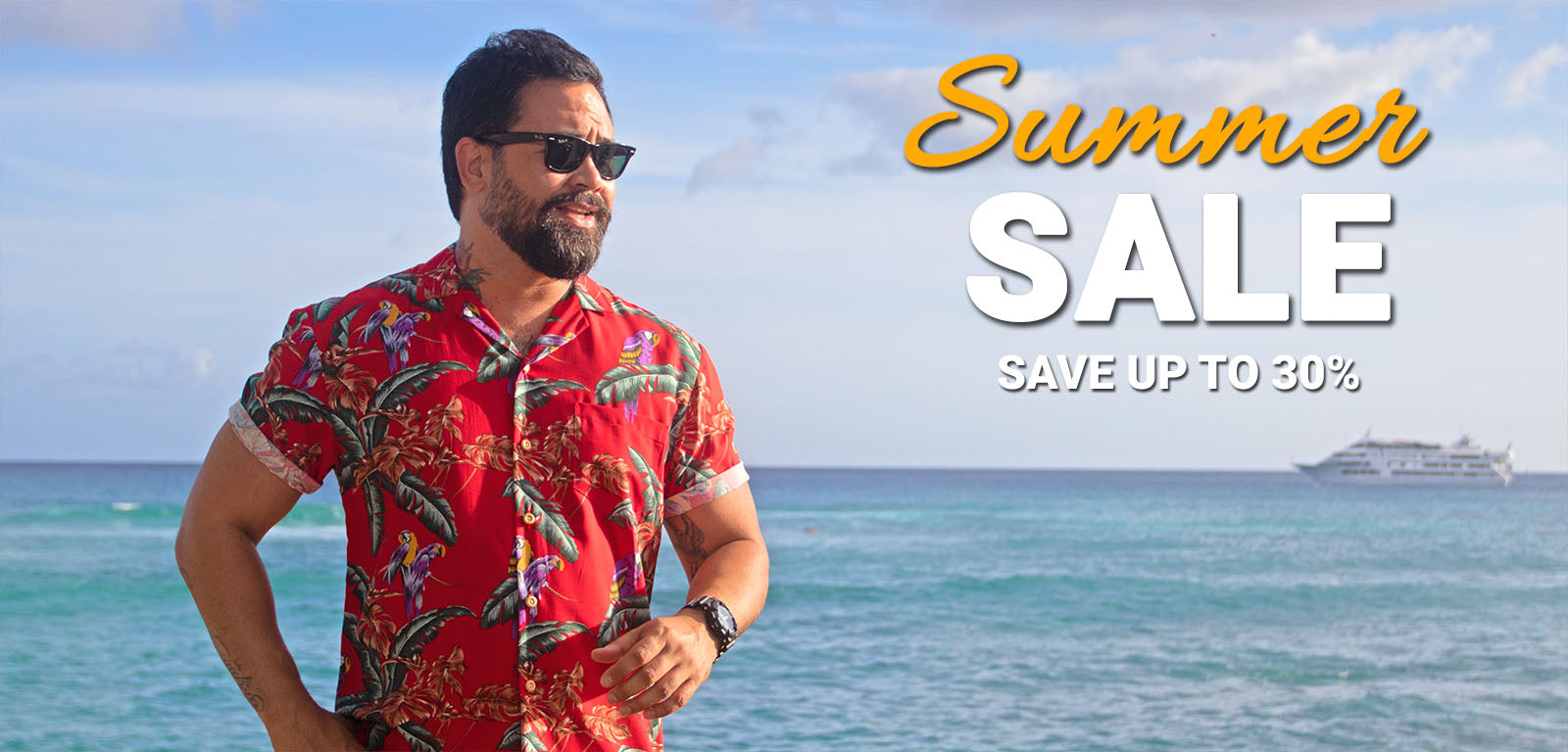 Men's Hawaiian Shirt Summer Sale 2018