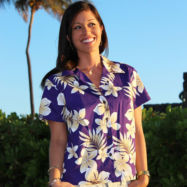 Tropic Fever Purple Fitted Top