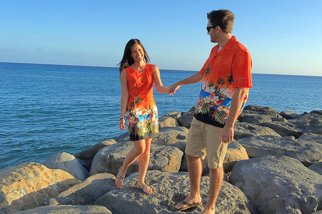 fun summer Hawaiian clothing helps you get and stay in a fun positive mood