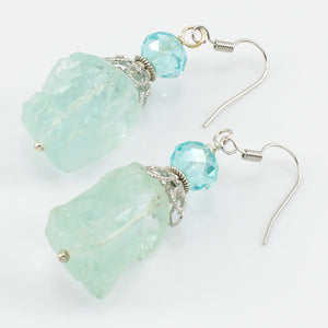Sea Glass Beaded Gumdrop Earrings