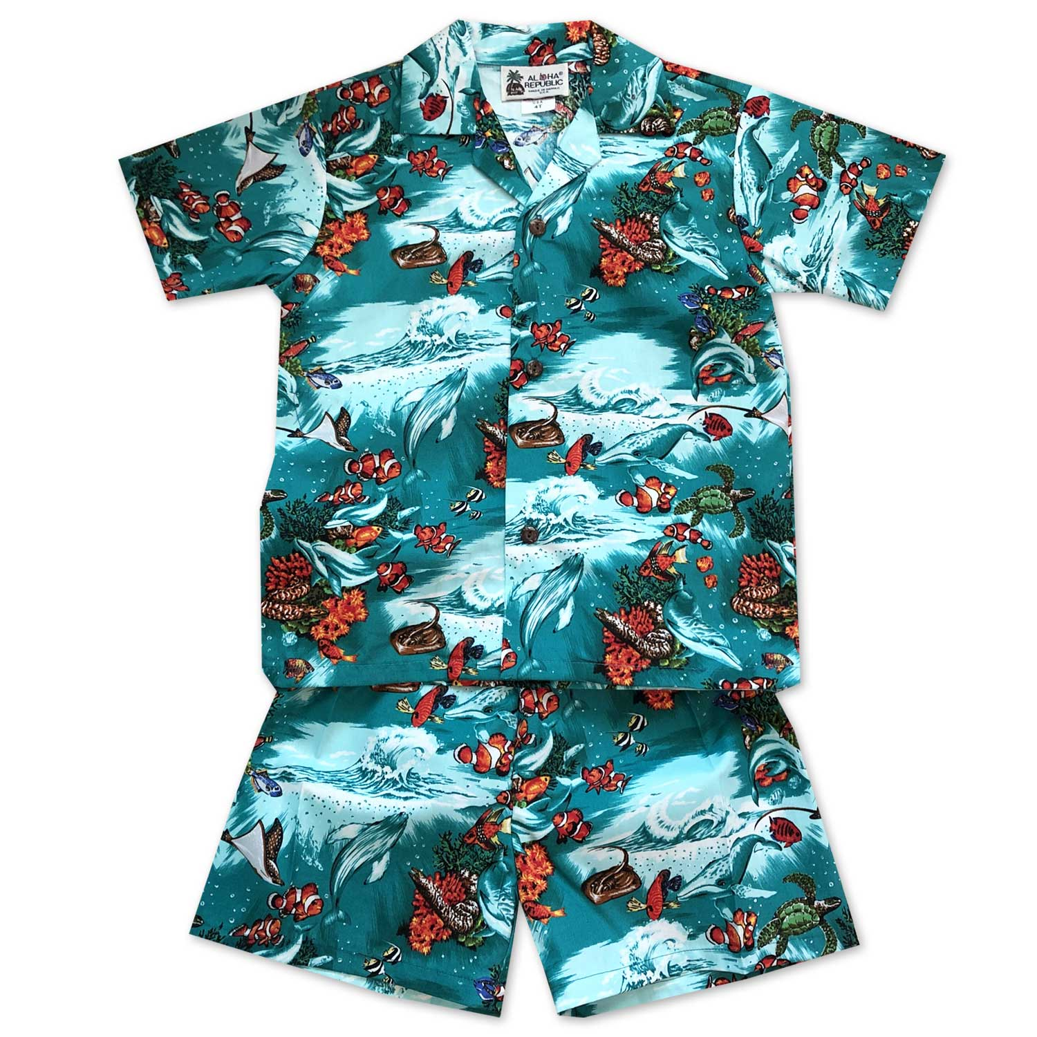df2efbab Boy's Hawaiian Shirt and Shorts Sets - AlohaFunWear.com