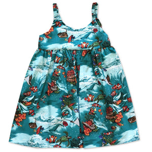Clownfish Reef Aqua Bungee Dress