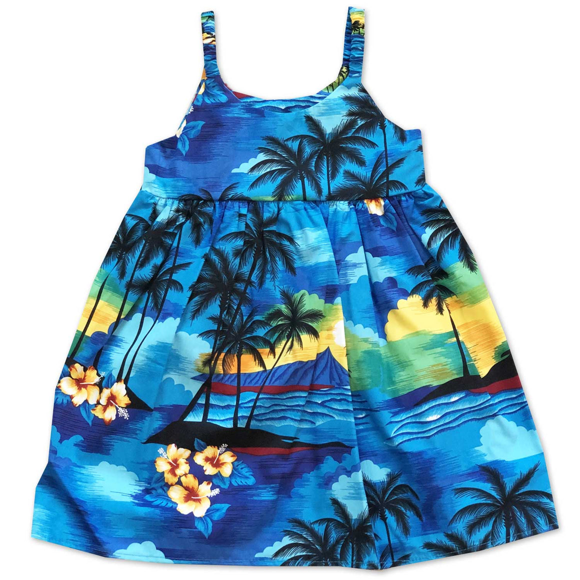 Diamond Head Dusk Blue Bungee Dress