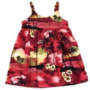 Diamond Head Dusk Red Bungee Dress