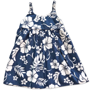 Hibiscus Party Navy Bungee Dress
