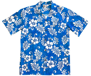 Tropic Flavor Blue Hawaiian Shirt