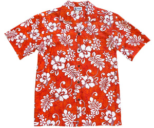 Tropic Flavor Orange Hawaiian Shirt