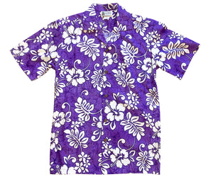 Tropic Flavor Purple Hawaiian Shirt