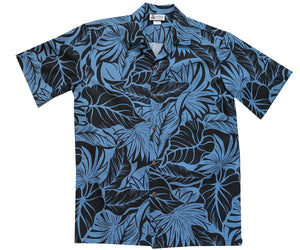 Island Monarchy Black Hawaiian Shirt