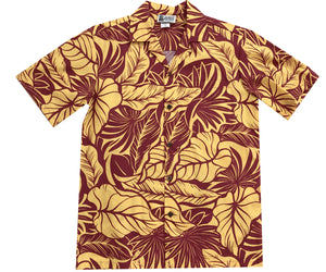 Island Monarchy Yellow Hawaiian Shirt