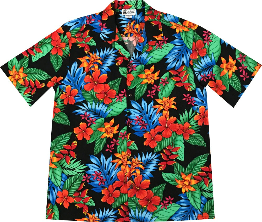 Jungle Dream Black Hawaiian Shirt