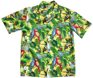 Parrot Domain Yellow Hawaiian Shirt