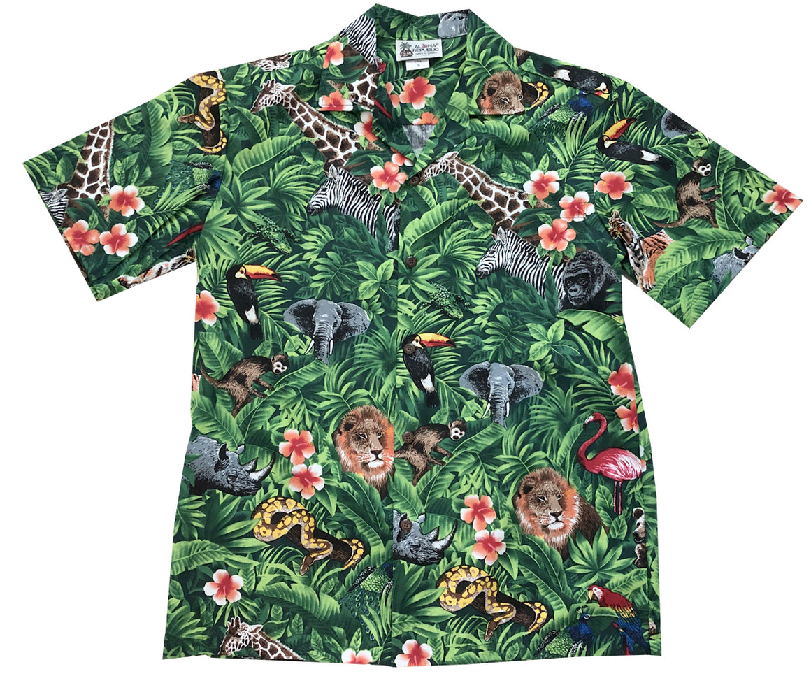 Wild Things Green Hawaiian Shirt