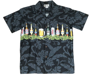 Beer is My Life Black Hawaiian Shirt