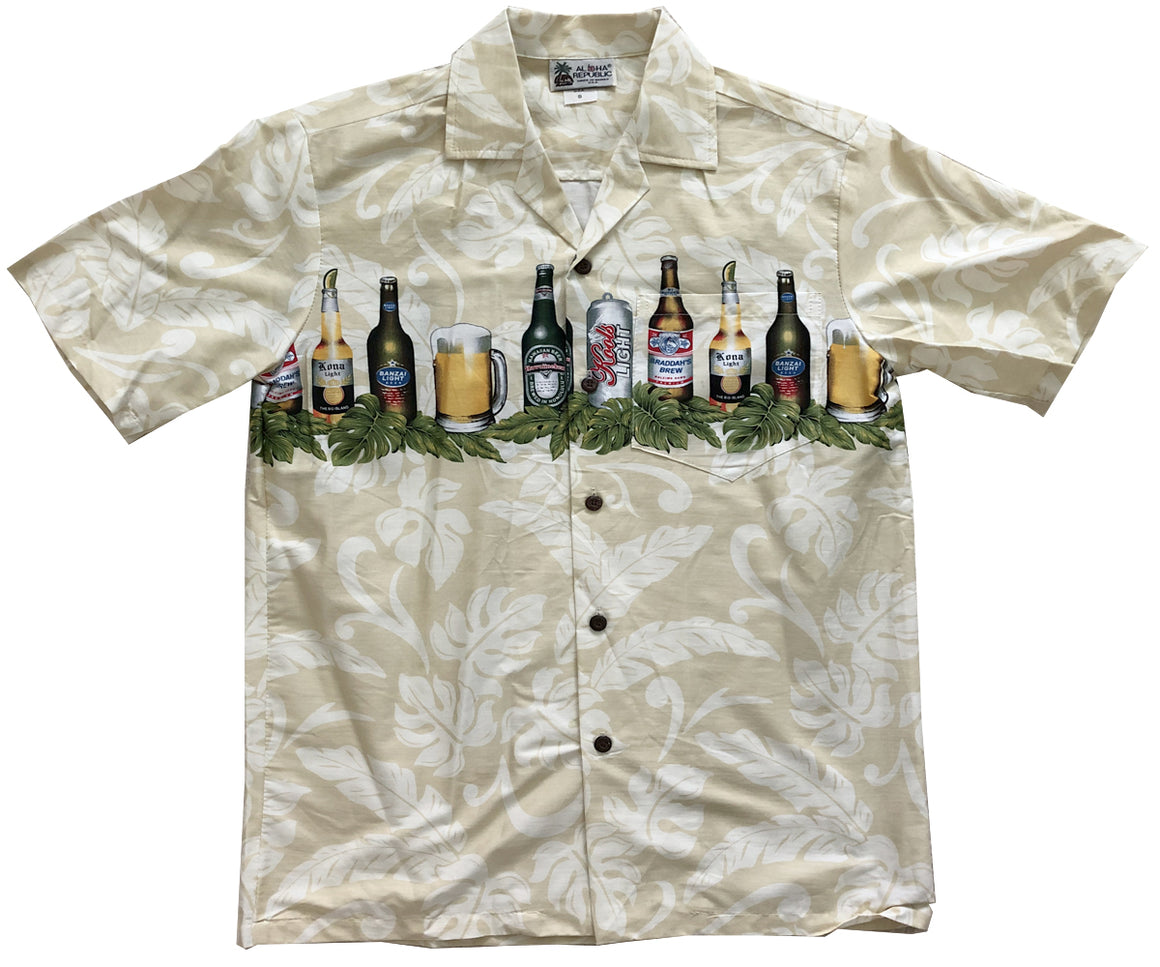 Beer is My Life Cream Hawaiian Shirt