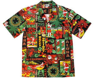 Aloha Christmas Traditions Black Hawaiian Shirt