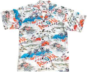 Aloha Hawaii White Retro Hawaiian Shirt